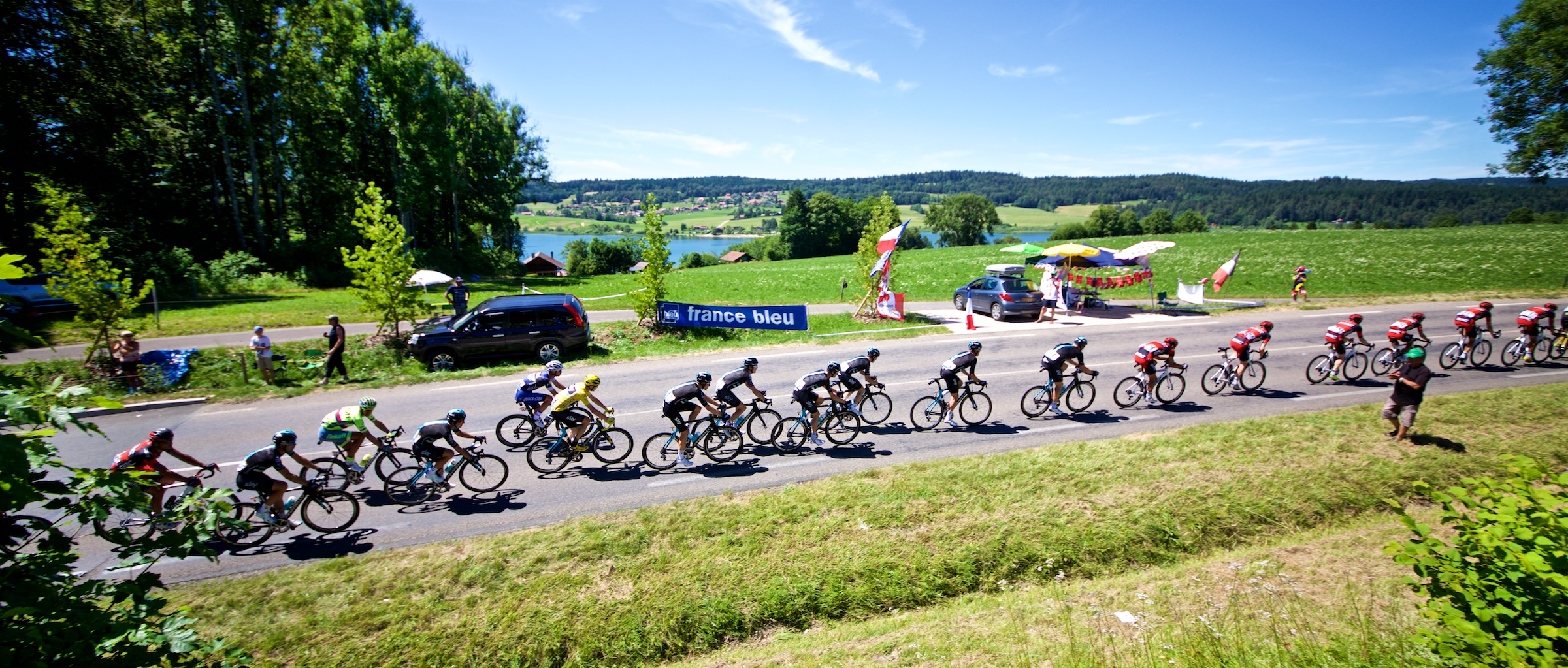 16. Team Sky in formation